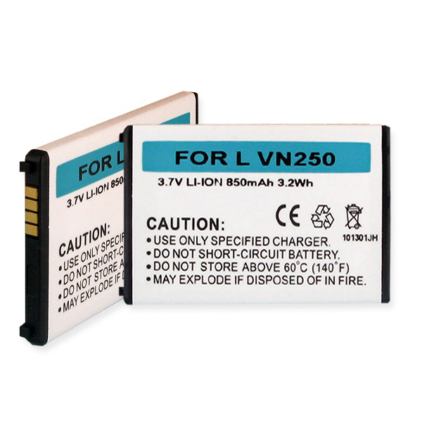 Cell Phone Battery for LG LGIP-340NV Rumor and Others - 3.7V 850mAh Li-Ion - BLI-1171-.8
