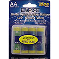 AA Rechargeable 2600 NiHM 4 Pack NMH-4/AA with Storage Case