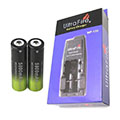 Ultrafire WF-139 Dual Port Charger and two (2) 18650 Batteries