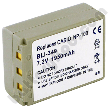 A Camcorder / Digital Camera Battery CASIO NP-100 7.4V 1950 mAh - BLI-349