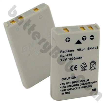 A Camcorder / Digital Camera Battery Nikon EN-EL5 Li-Ion 3.7 Volts 1000 mAh BLI-239 ENEL5