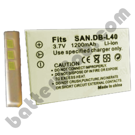A Camcorder Replacement Battery for SANYO DB-L40 LI-ION 3.7V 1200mAh  BLI-294