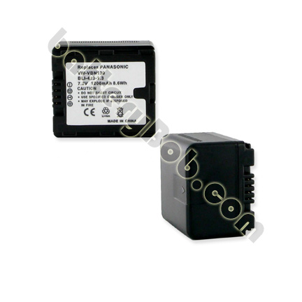 A Camcorder Replacement Battery for Panasonic VW-VBN130 Li-Ion -  7.2V 1200mAh - BLI-423-1.3