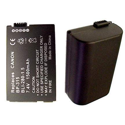 Camcorder Replacement Canon BP-315 - Lithium Ion 7.4 volts 1500 mAh Battery  BLI-280-1.4