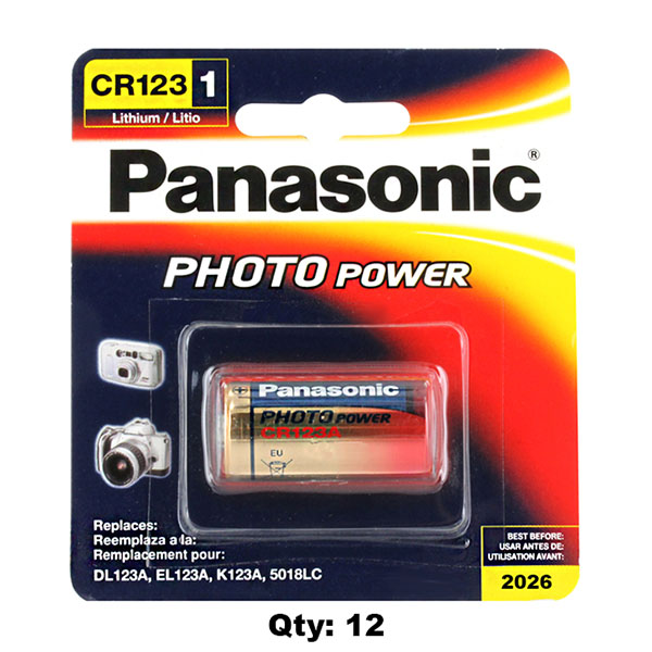 Genuine Usa Panasonic Cr123a Box Of 12 Lithium Batteries Watch