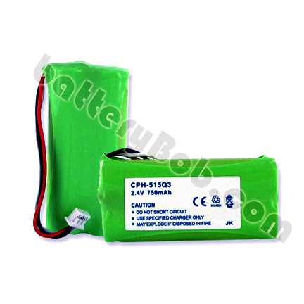 A Cordless Phone Replacement Battery for Plantronics CT14 -  2.4 V 750 mAh - NIMH - CPH-515Q3