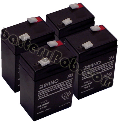 Rhino or Toyo SLA4-6 Alarm Medical UPS Battery 4 PACK 6 Volts 4.5 Ah  SLA4-6