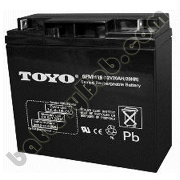 Toyo 12 volt 20 Ah Sealed Lead Acid Battery SLA12-20