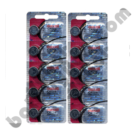 Maxell CR1216 - 2  Packs of 5 Batteries + One Free Battery