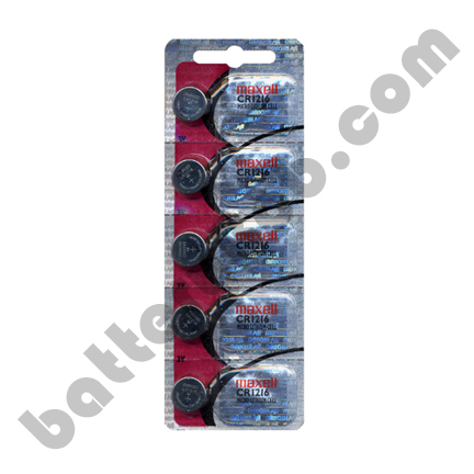 MAXELL CR1216 - 1 Pack of 5 Batteries